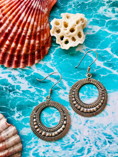 delilah hilltribe silver earrings