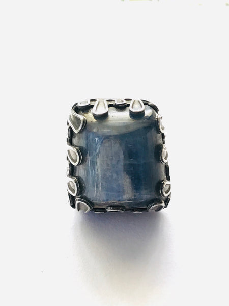 blue kyanite sterling silver ring