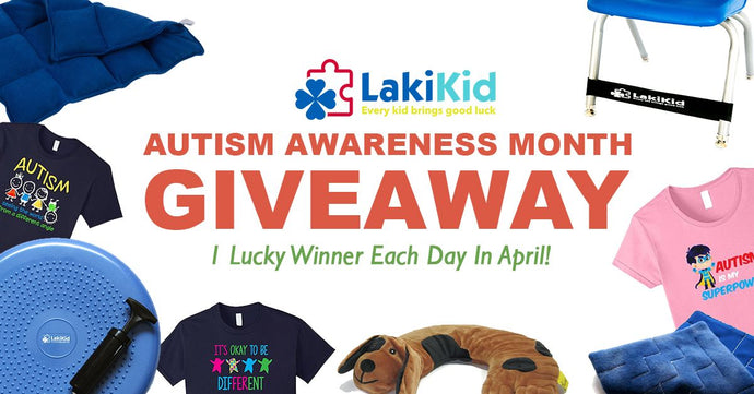EACH DAY IN APRIL WIN ONE LAKIKID PRODUCT