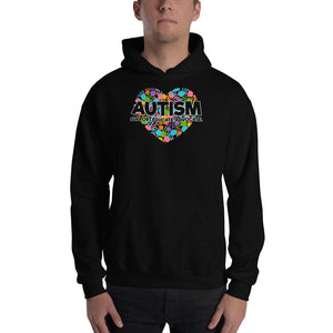 Autism Dad Hoodies | Proud Dad Of An Autism Superhero Hand Print - LakiKid