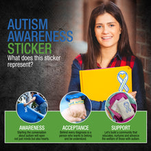 LakiKid Autism Awareness Sticker - Ideal Ribbon Stickers for Your Car or Truck - Awareness Sign and Decal for Your Window, Bumper, Helmet, Locker, and More(2) - LakiKid