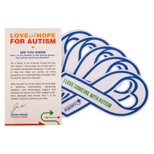 LakiKid Autism Awareness Sticker - Ideal Ribbon Stickers for Your Car or Truck - Awareness Sign and Decal for Your Window, Bumper, Helmet, Locker, and More(10) - LakiKid