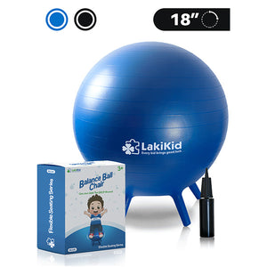 "Balance Ball Chair for Kid: Stability Balls with Legs for Flexible Seating Classroom - Fun Alternative Seating for Students, Includes Air Pump (18"")"