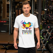 Autism Dad T Shirts | Proud Dad Of An Autism Superhero Puzzle Piece T-Shirt - LakiKid