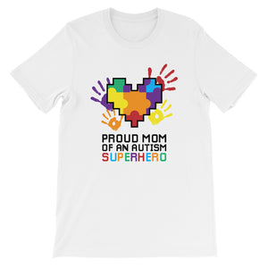 Autism Mom T Shirts | Proud Mom Of An Autism Superhero Puzzle Piece - LakiKid