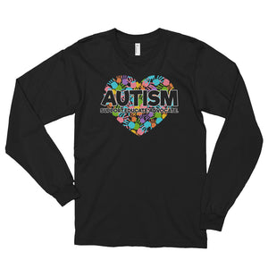 Support Educate Advocate | LakiKid Autism Awareness Long Sleeve Shirt for Dad - LakiKid