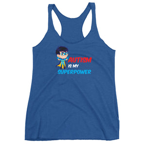 Autism Mom Tank Tops | Autism Is My Super Power - LakiKid