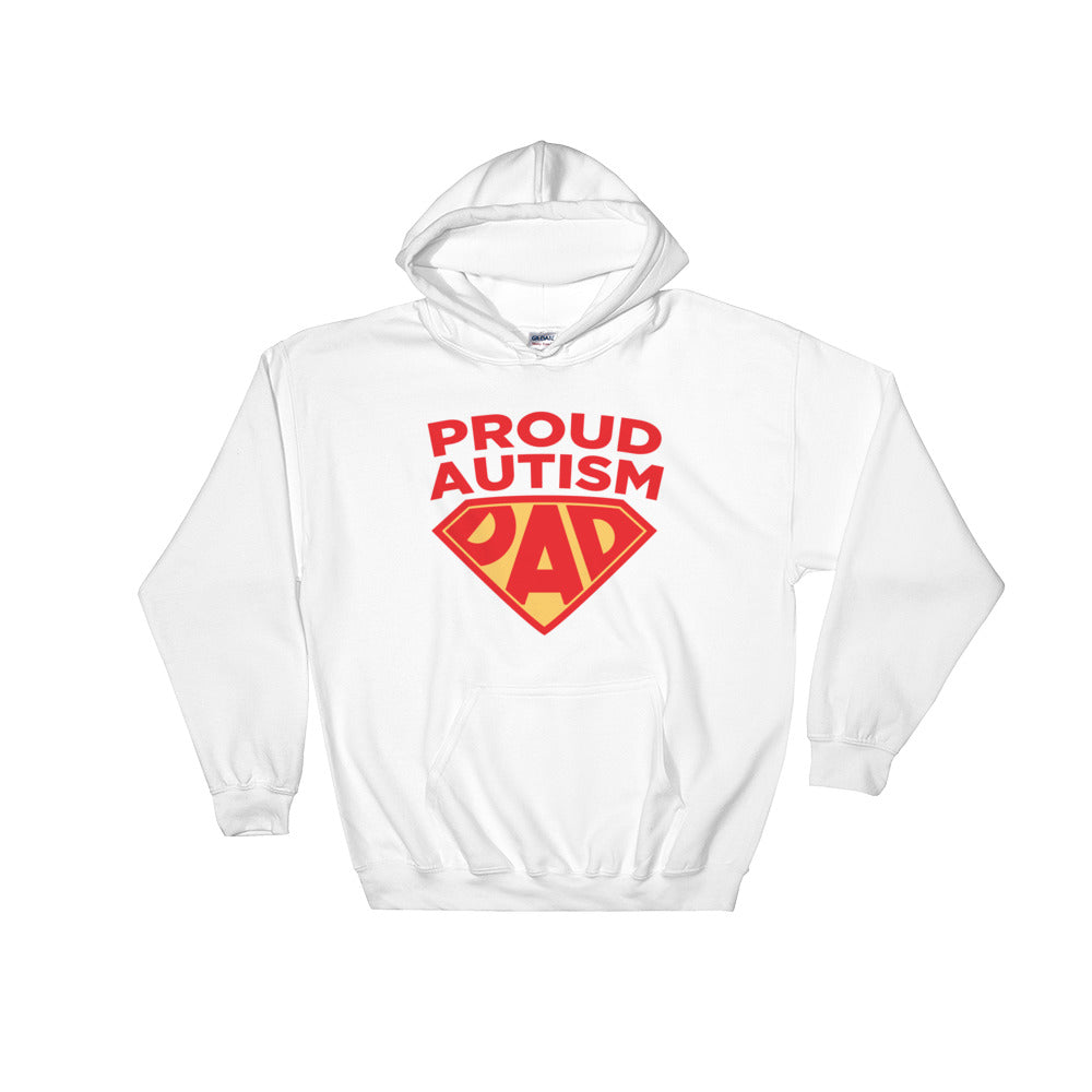 Autism Dad Hoodies | Proud Autism Dad Superhero Shield - LakiKid
