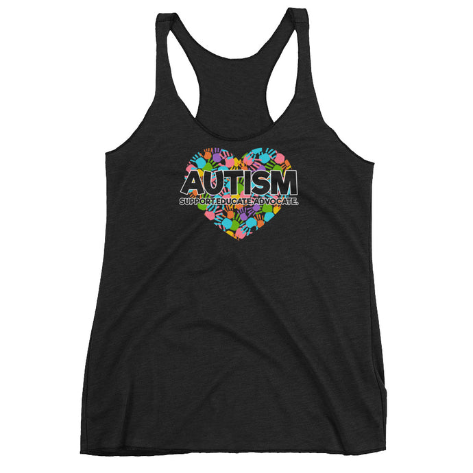 Autism Mom Tank Tops | Support Educate Advocate - LakiKid