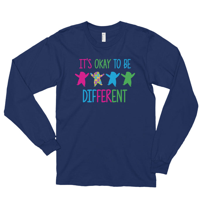 It's Okay To Be Different | LakiKid Autism Awareness Long Sleeve Shirt - LakiKid