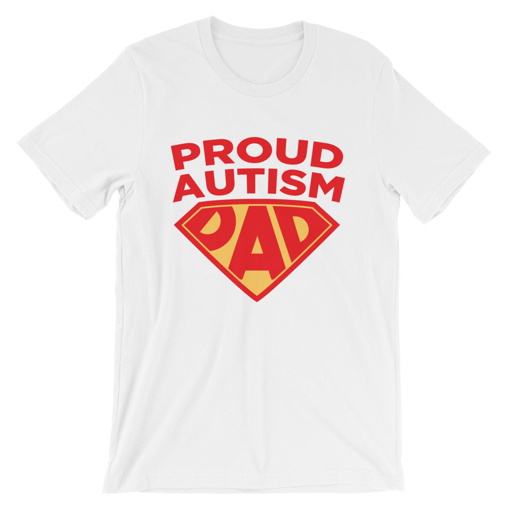 Autism Dad T Shirts | Proud Autism Dad Superhero Shield - LakiKid