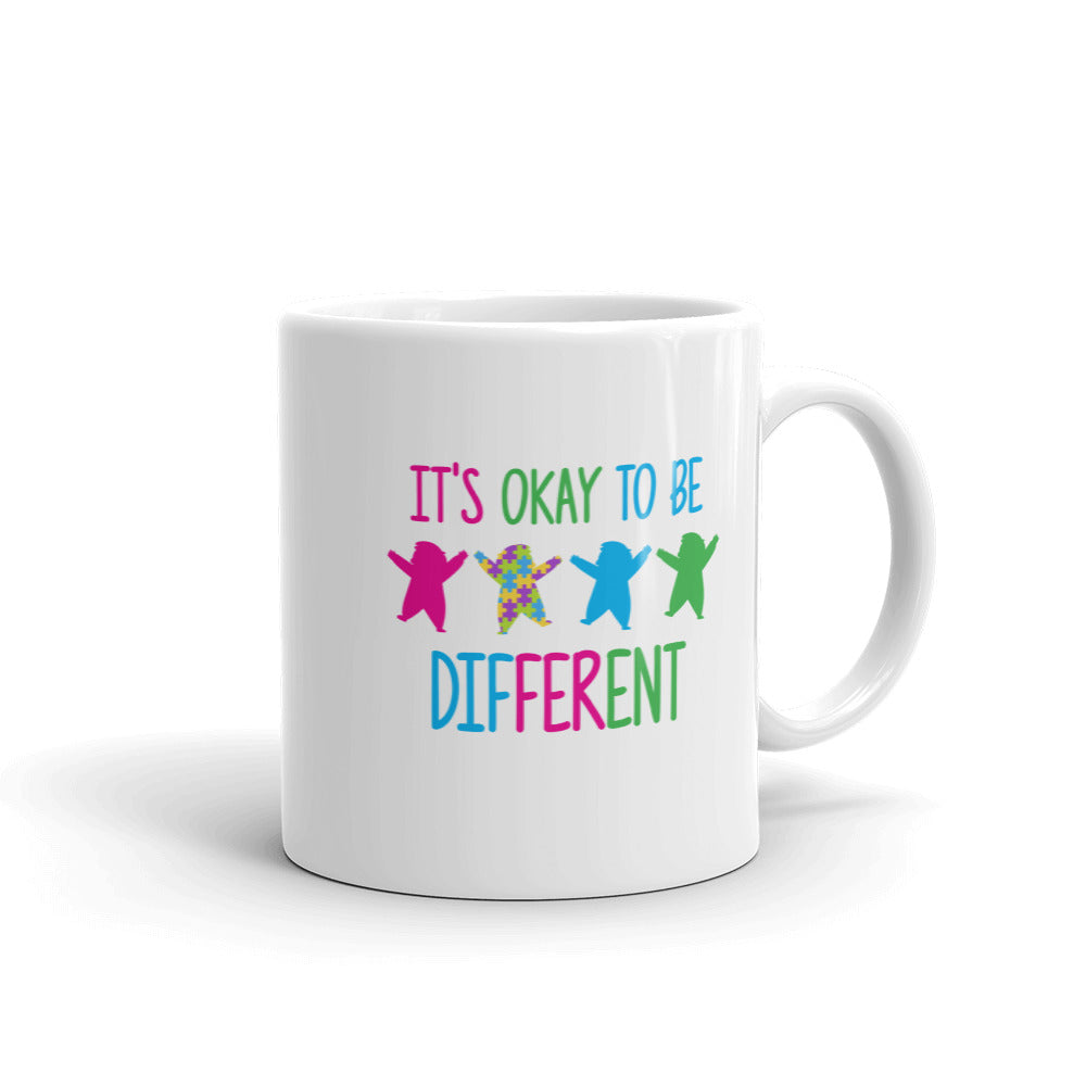 Autism Awareness Merchandise | It's Okay To Be Different Mugs - LakiKid