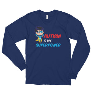 Autism Is My Super Power | LakiKid Autism Awareness Long Sleeve Shirt - LakiKid