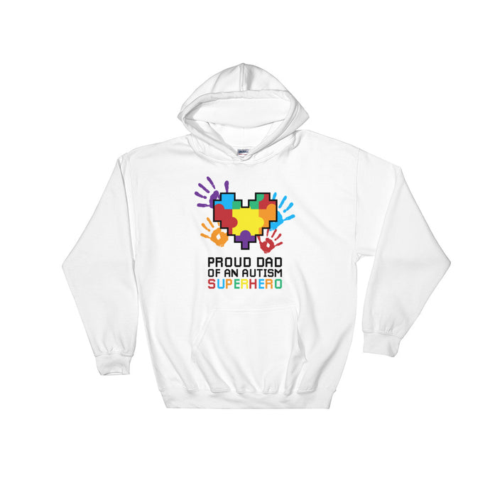 Autism Dad Hoodies | Proud Dad Of An Autism Superhero Puzzle Piece - LakiKid