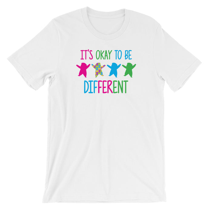 Autism Dad T Shirts | It's Okay To Be Different - LakiKid