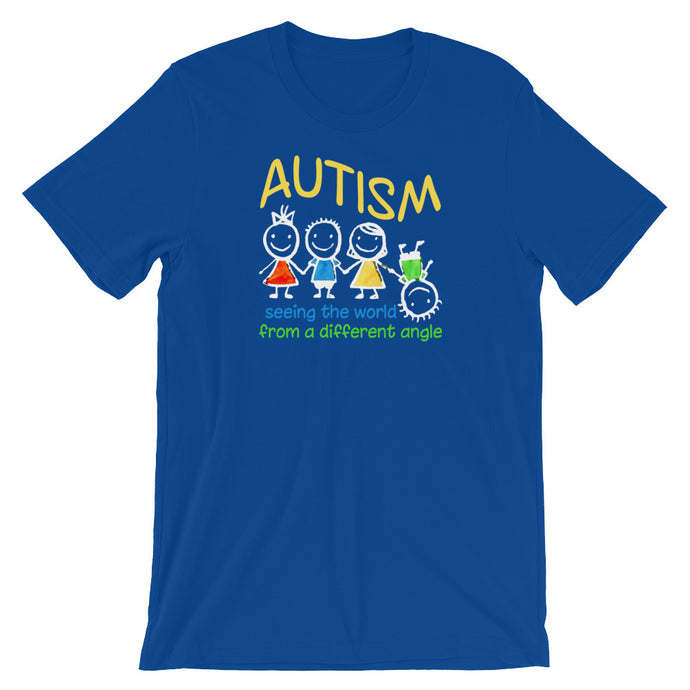Seeing The World At A Different Angle | LakiKid Autism Awareness Shirts