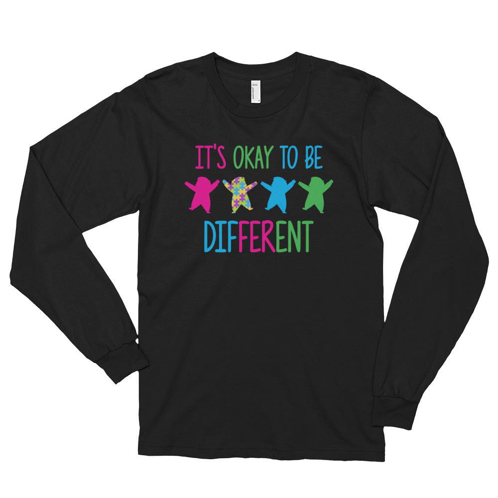 It's Okay To Be Different | LakiKid Autism Awareness Long Sleeve Shirt for Dad - LakiKid