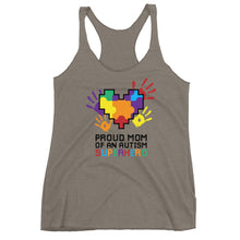 Autism Mom Tank Tops | Proud Mom Of An Autism Superhero Puzzle Piece - LakiKid