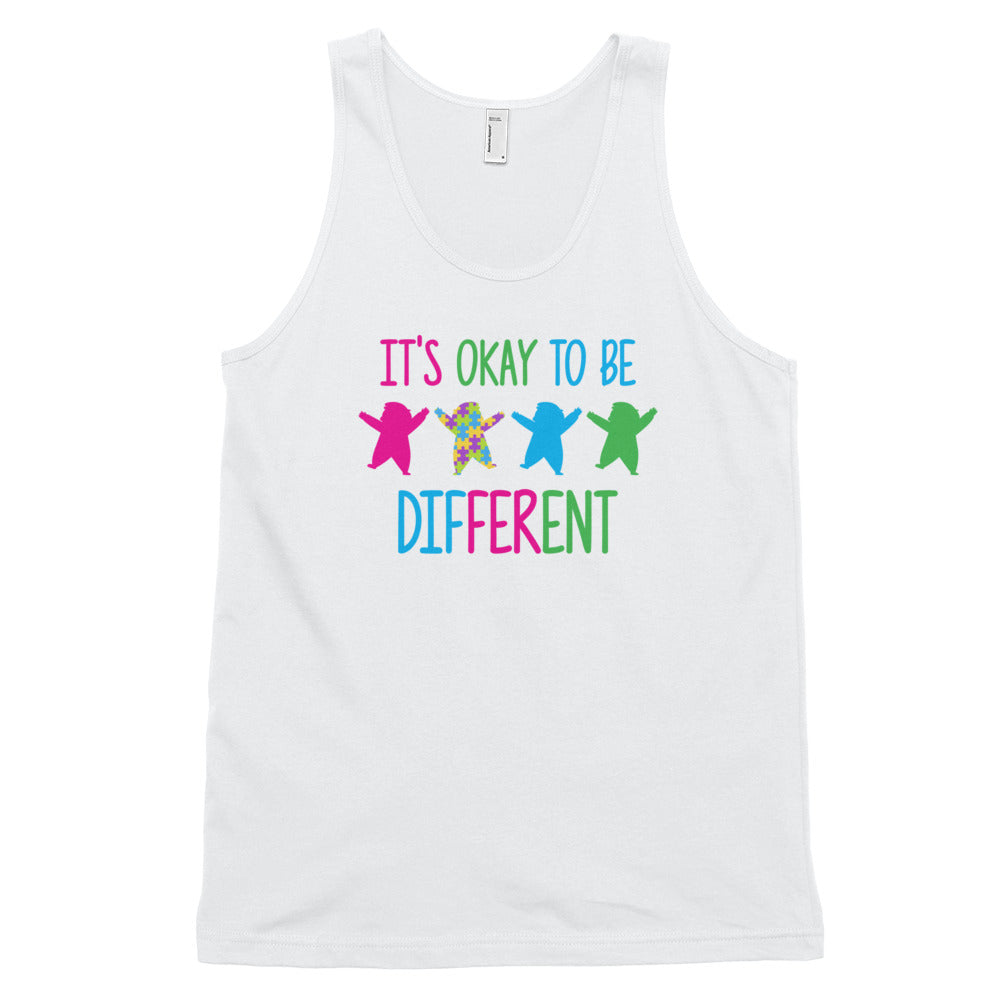 Autism Dad Tank Top | It's Okay To Be Different - LakiKid