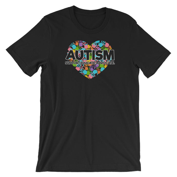 Autism Dad T Shirts | Support Educate Advocate - LakiKid