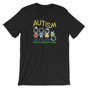 Autism Dad T Shirts | Seeing The World At A Different Angle - LakiKid