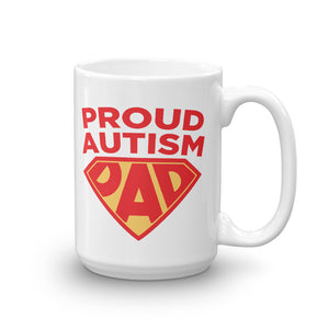 Autism Awareness Merchandise | Proud Autism Dad Superhero Shield Mugs - LakiKid