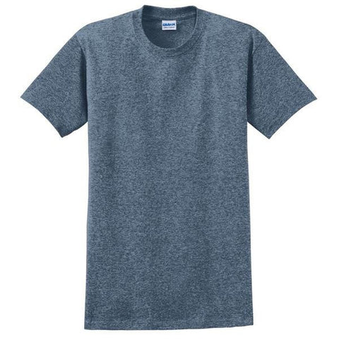Heather Blue T-Shirt with 1-color-print - HuddyWear