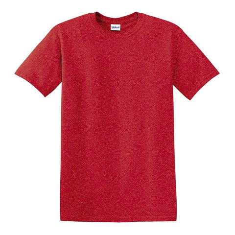 Heather Red T-Shirt with 1-color-print - HuddyWear