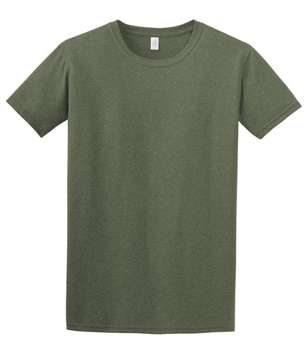 Heather Green T-Shirt with 1-color-print - HuddyWear