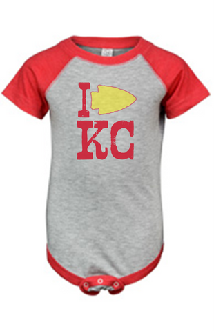 I Arrow KC Onesie - HuddyWear