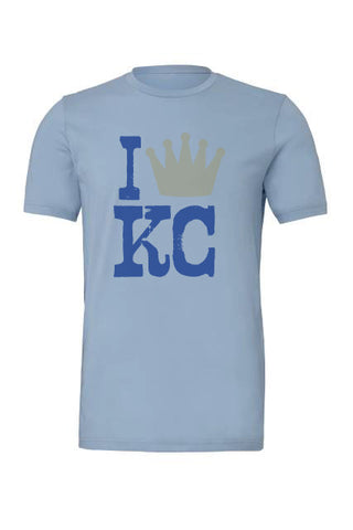 I Crown KC Tee Light Blue - HuddyWear