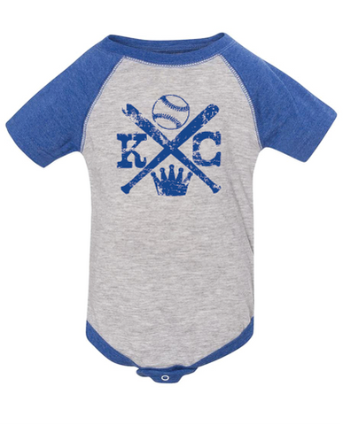 Cross Bat KC Onesie