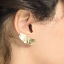 Feather Forever Earrings Plated with 14K Gold