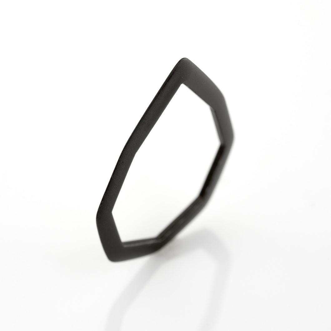 Minimal Ring 925 Silver Plated With Black Rhodium