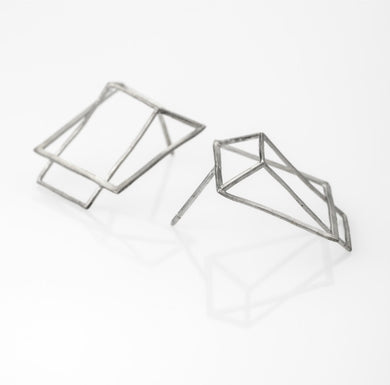 HOT BOX Earrings 925 Silver Plated With White Rhodium