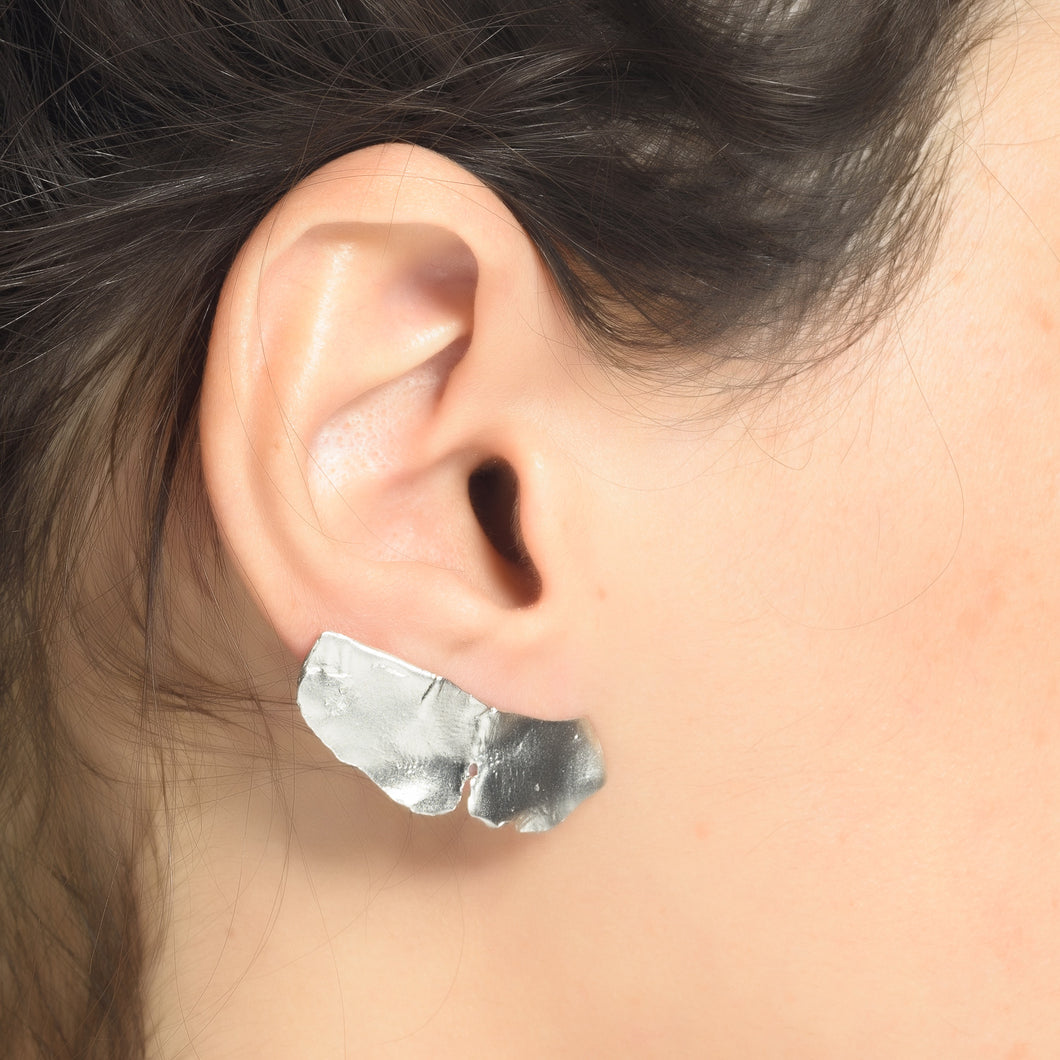 Feather Forever Earrings 925 Silver Plated White Rhodium