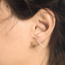 Vertex Earinnigs 925 Silver Plated With 14K Gold