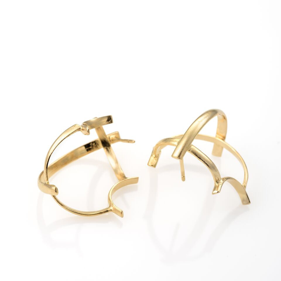 WAVE earrings Plated With 14K Gold