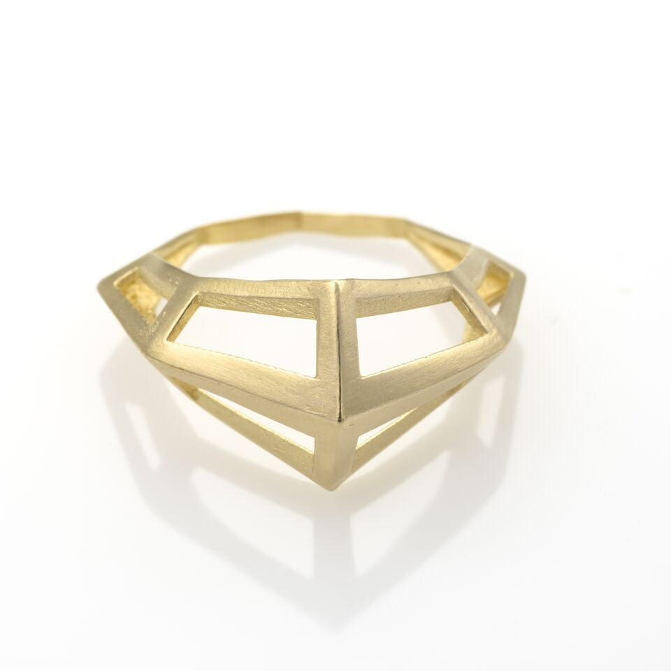 KNIGHT Ring Plated With 14K Gold