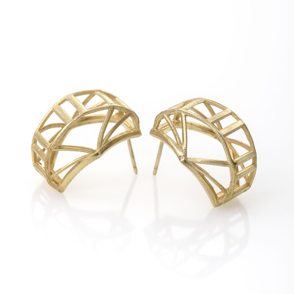 RAIL Earings plated with 14K Gold
