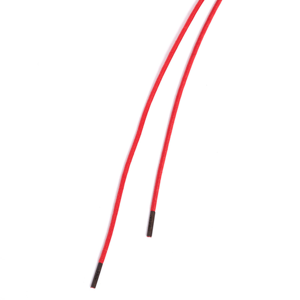 SL-690 <br/>Waxed Shoelaces in 690mm<br/>Red Plain Tubular Cord