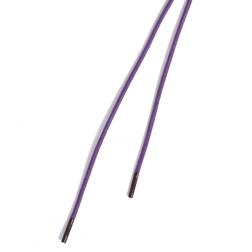SL-690 <br/>Waxed Shoelaces in 690mm<br/>Purple Plain Tubular Cord