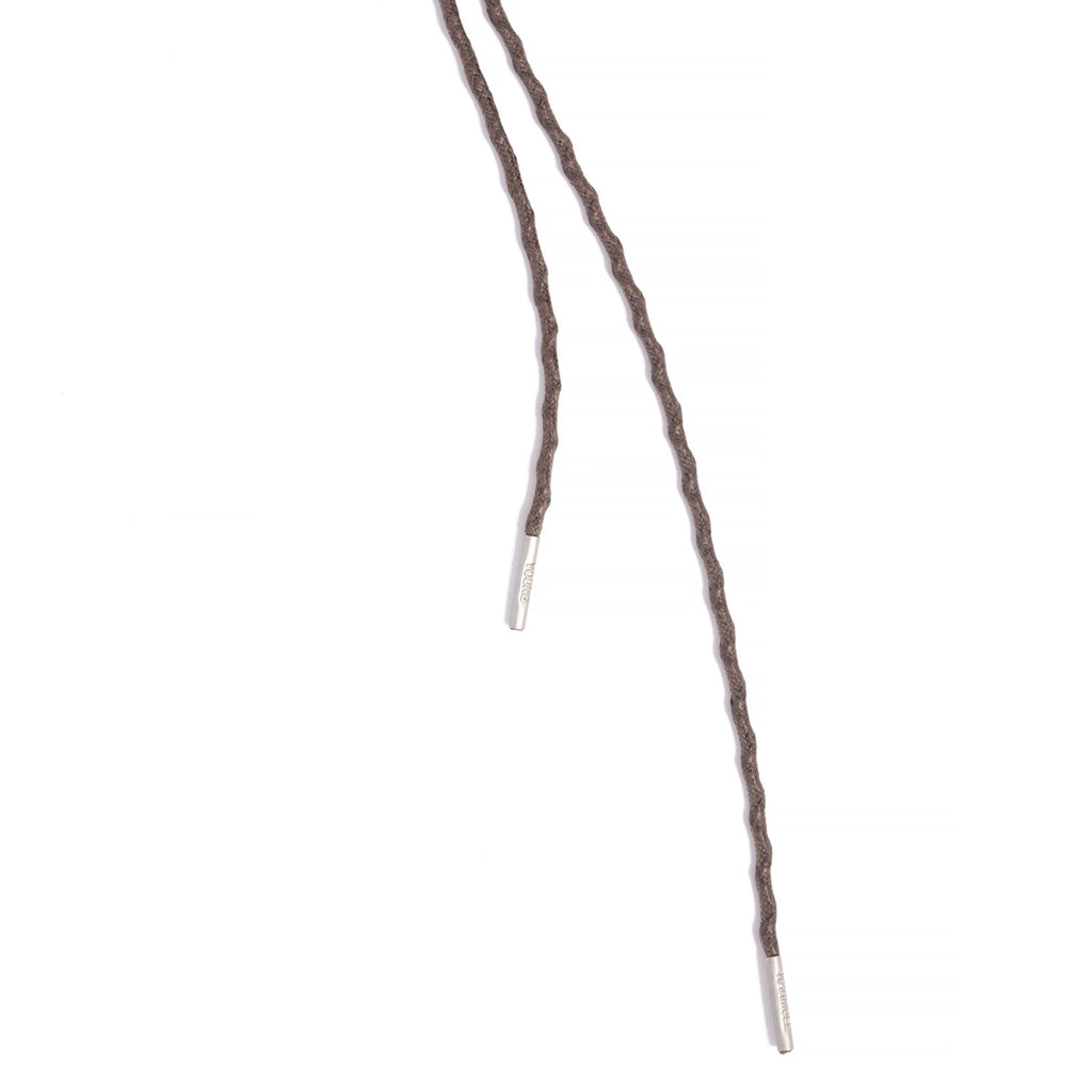 SL-690 <br/>Waxed Shoelaces in 690mm<br/>Brown Textured Tubular Cord