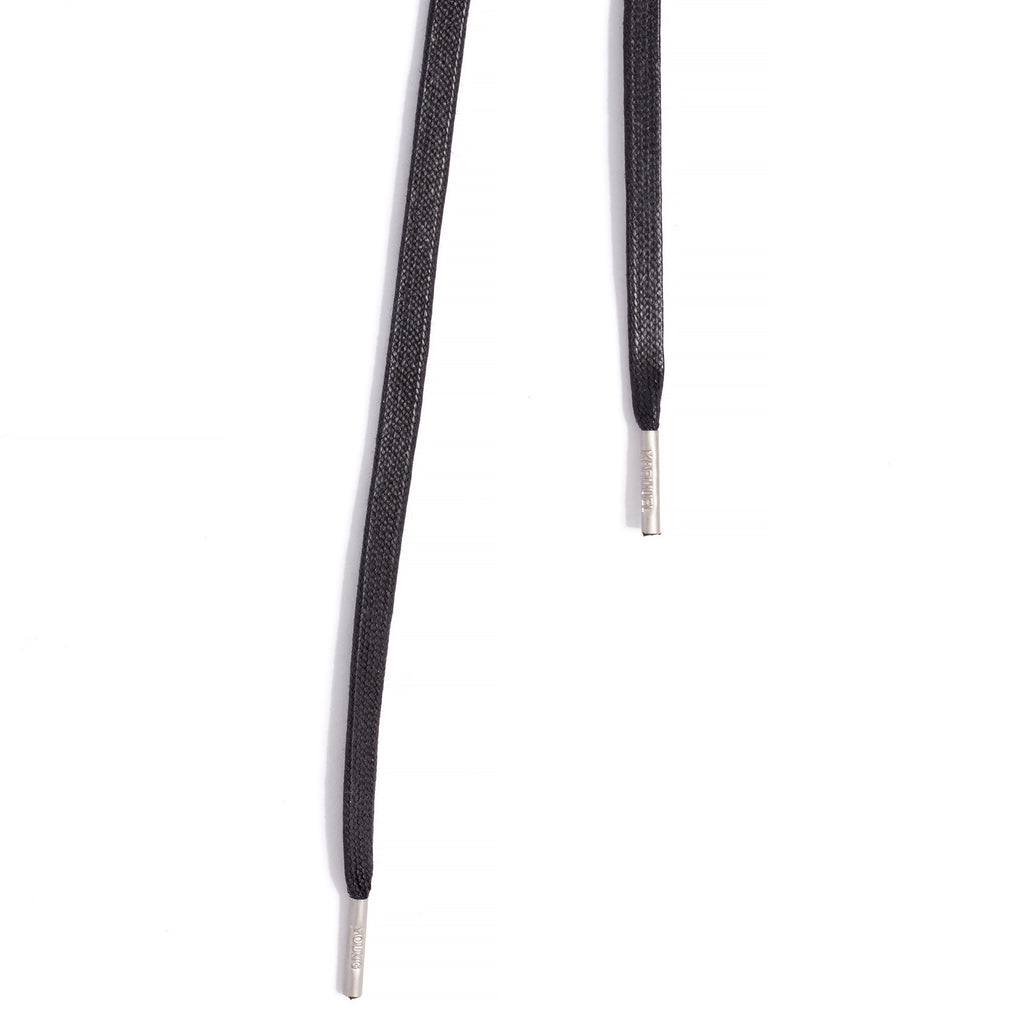 SL-810 <br/>Waxed Shoelaces in 810mm<br/>Black Plain Flat Cord