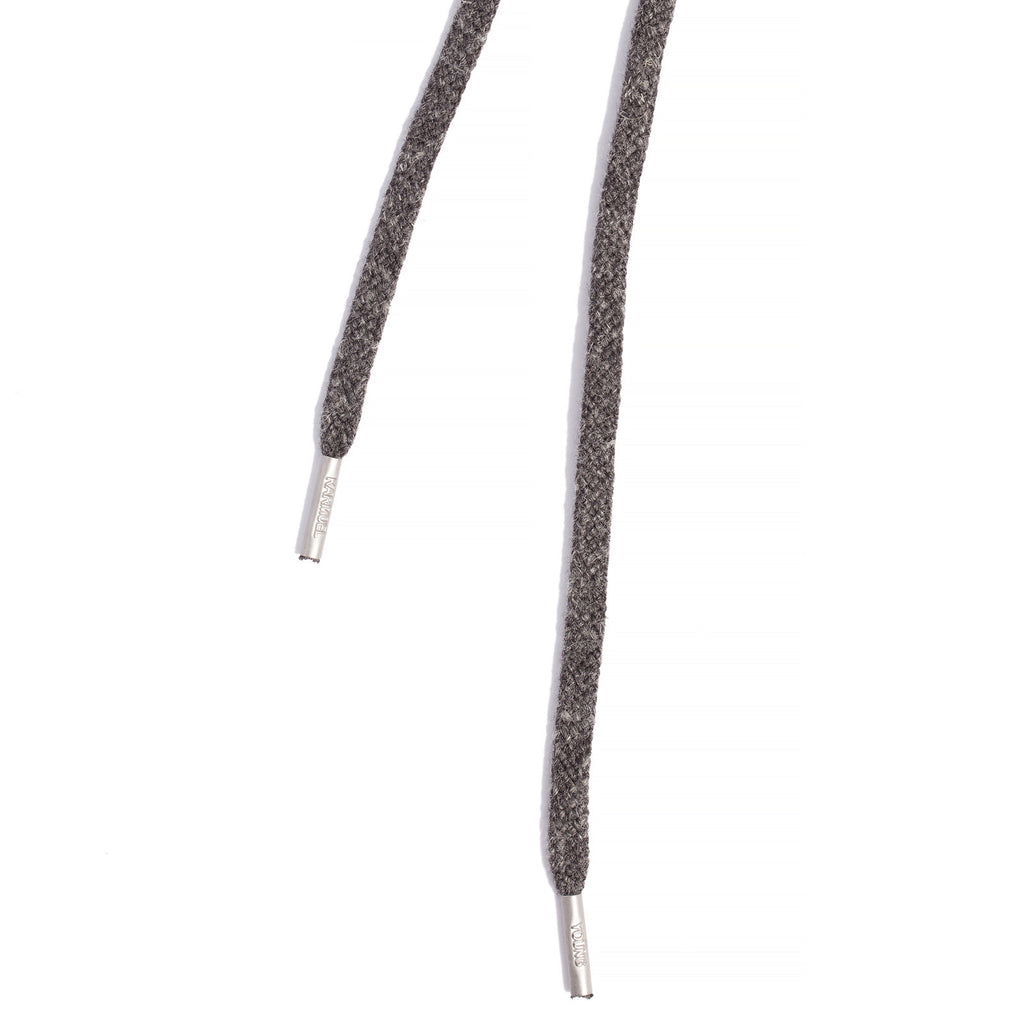 SL-810 <br>Waxed Shoelaces in 810mm<br>Mélange Grey Acrylic Linen Flat Cord