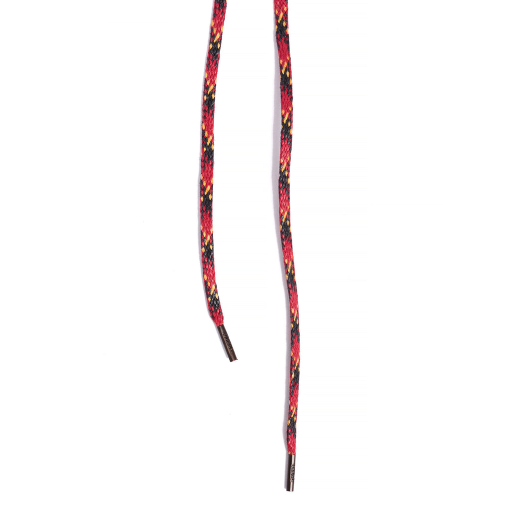 SL-810 <br>Waxed Shoelaces in 810mm<br>Red Check-pattern Flat Cord