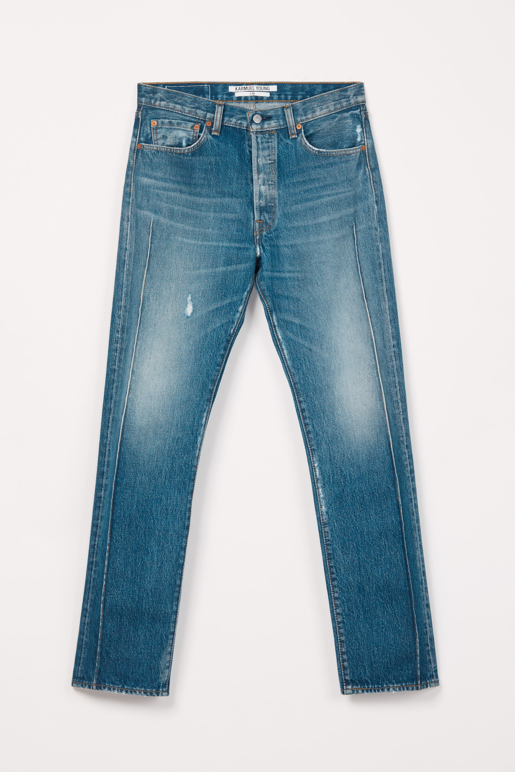 RE-edited Blue Washed Cuboid Levi's 501 jeans