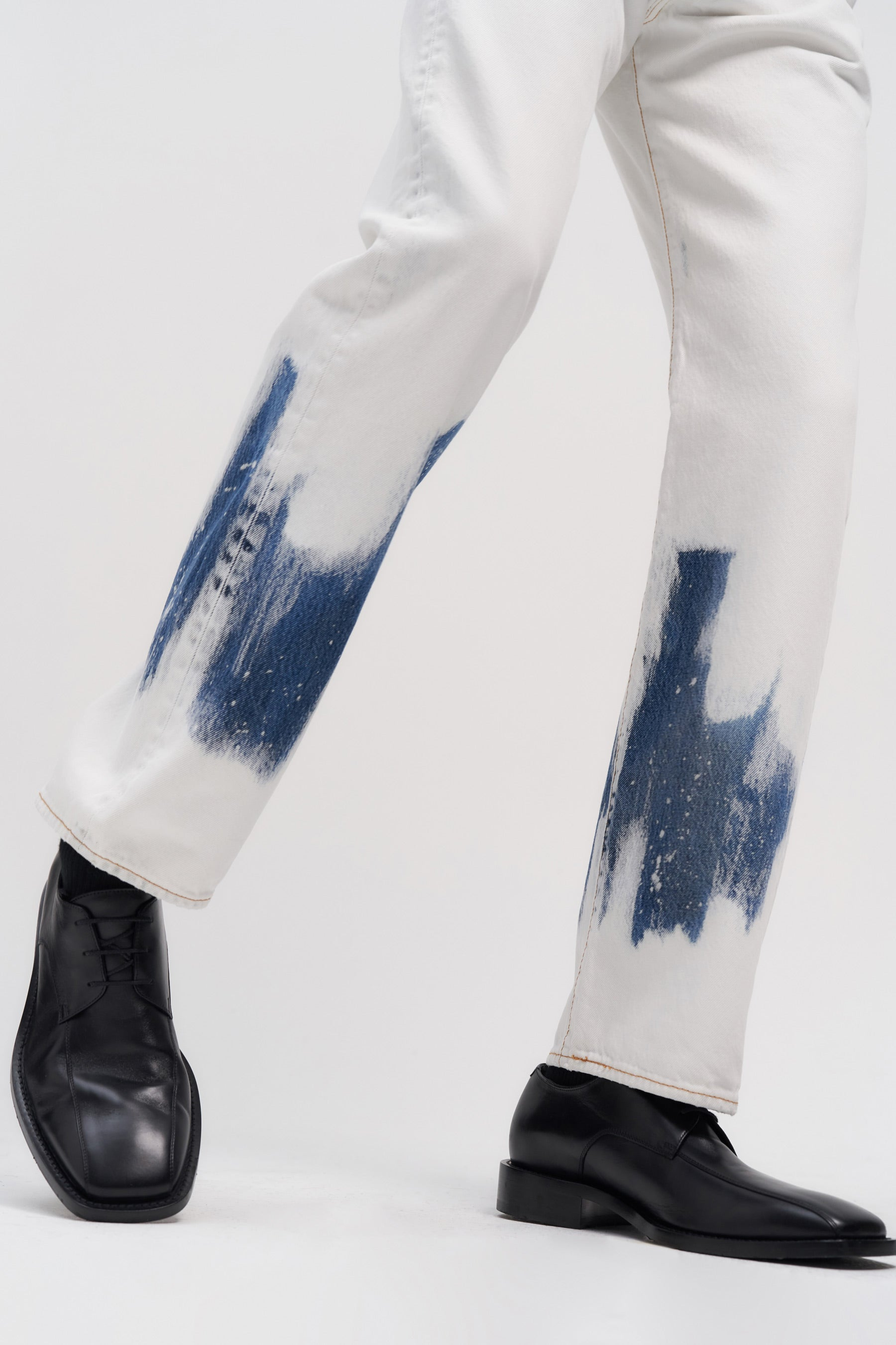 RE-edited Bleached Levi's 501 jeans