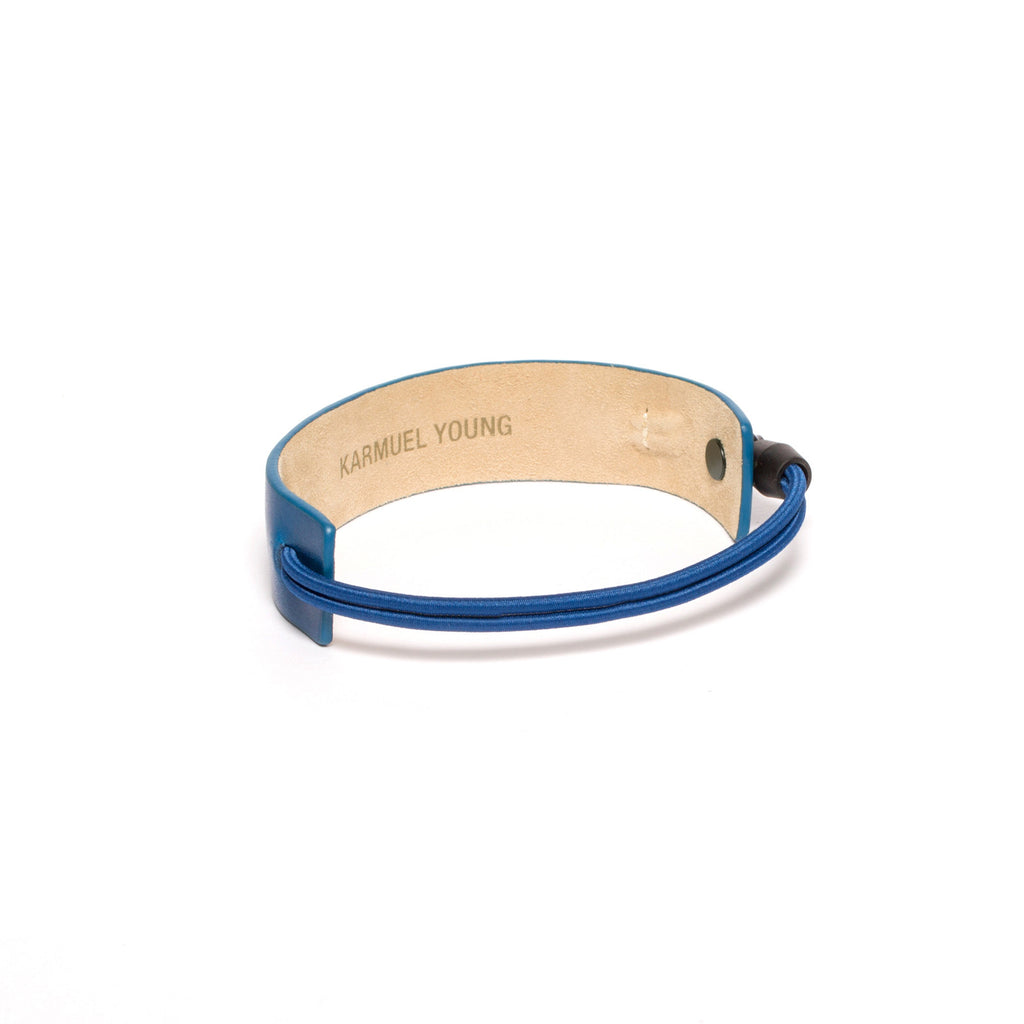 SC-25 <br>Shoe Cuff in 25mm width<br>Blue Calf Leather