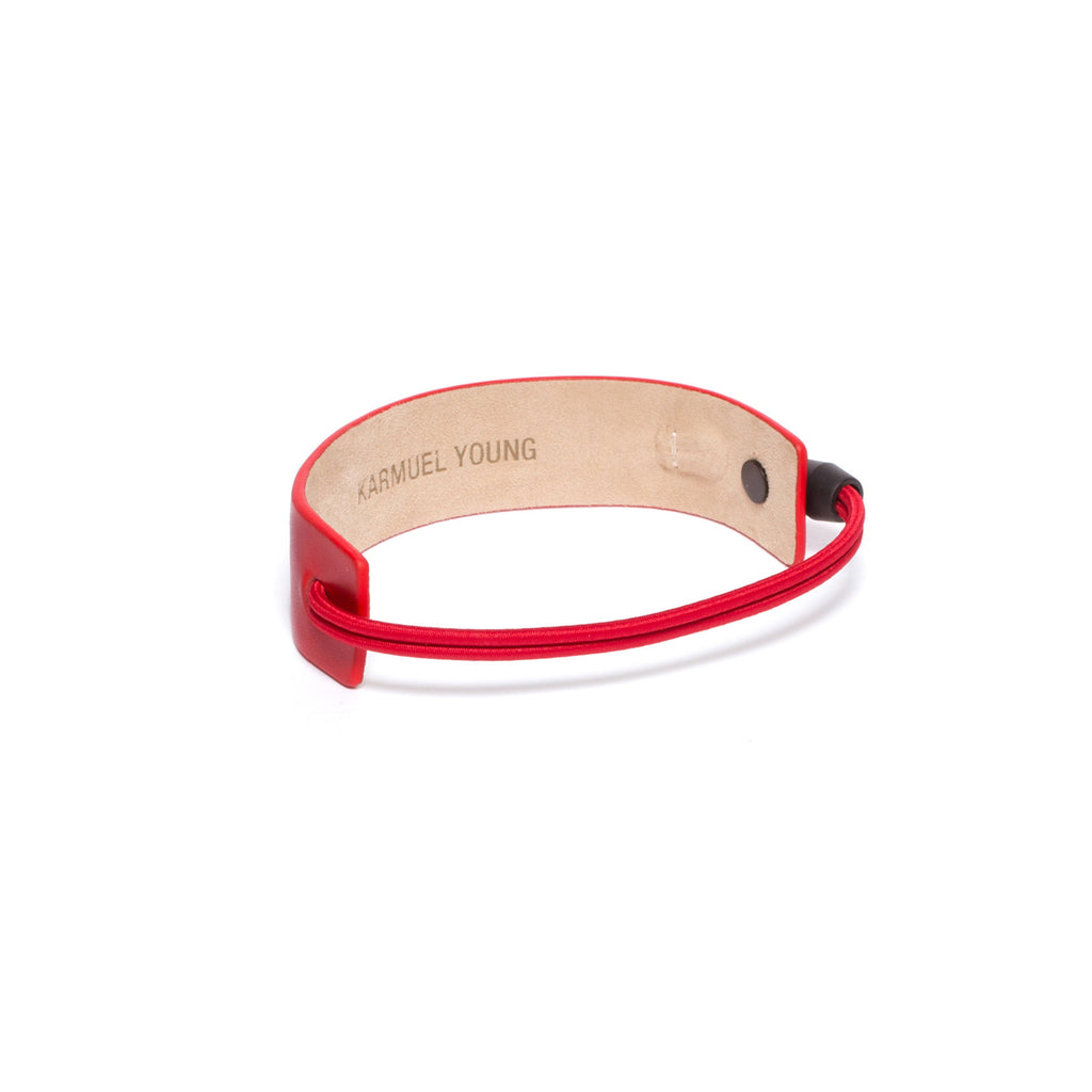 SC-25 <br>Shoe Cuff in 25mm width<br>Red Calf Leather